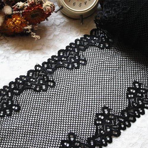 US $7.51 5% OFF 17 cm 5 yards breite elastische spitze elastische nähen band guipure spitze trimmen oder stoffkettenwirk DIY Bekleidungszubehör RS1431