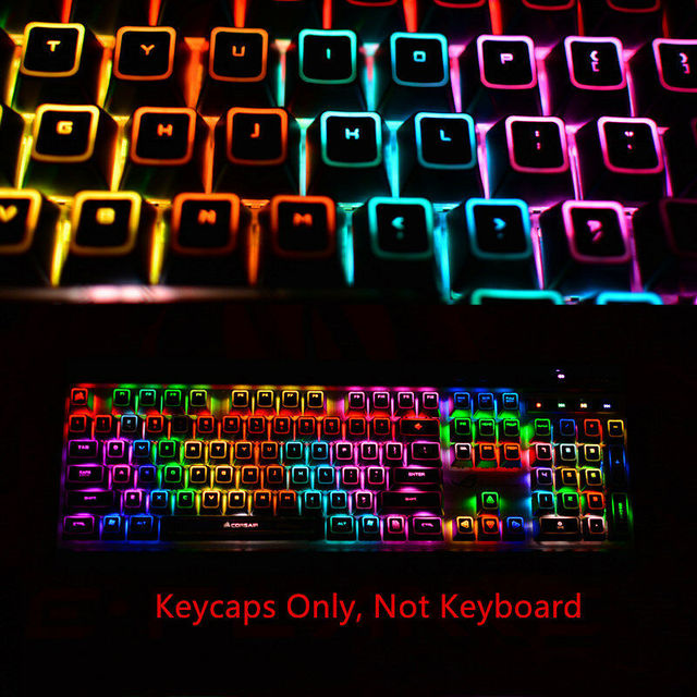 104 llaves Corsair ROG retroiluminado Keycap arriba Impresión de teclas K70  RGB K65 K95 Strafe mecánica juego teclado