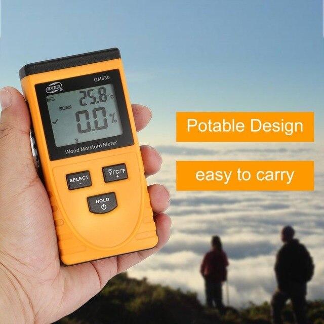 GM630 Vochtmeter medidor de humedad Hygrometer Grain Moisture Meter Igrometro Tester Humidity Inductance Measurement planten