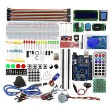 Умная электроника Модернизированный вариант Starter Kit RFID узнать люкс ЖК-дисплей 1602 UNO R3 комплект для Arduino комплект