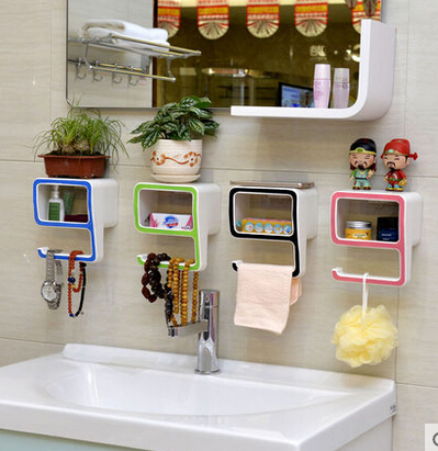 Bathroom Accessories Organizer multifunction-nine-shape-soap-storage-box-bathroom-accessories -storage-holders-wall-mounted-organizer-shelf