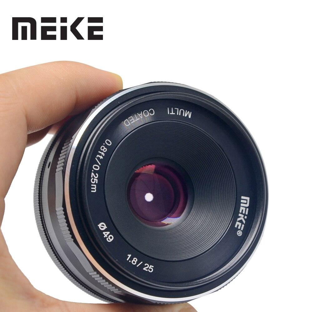 Meike 25mm f/1.8 Grand Angle Lentille Mise Au Point Manuelle Objectif pour Canon EF-M G7XII G3X M2 M5 M6 m3 M10 M50 Compacts avec APS-C