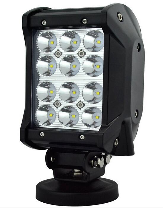 Car light LED DC9-32V floodlight work light 36W 4inch 2520lm 6500k LED work light for SUVs Truck Auto IP68 waterproof emergency truck led ramp 36w led light bar with ip67 waterproof rate
