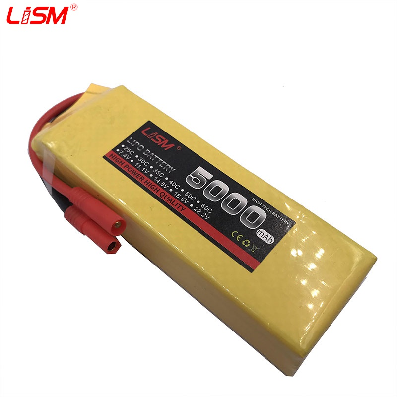 RC Battery 14.8V 5000mAh 30C max60C 4S LiPo Li-Poly for Helicopter Quadcopter Boat Toy battery 14.8V#20y80