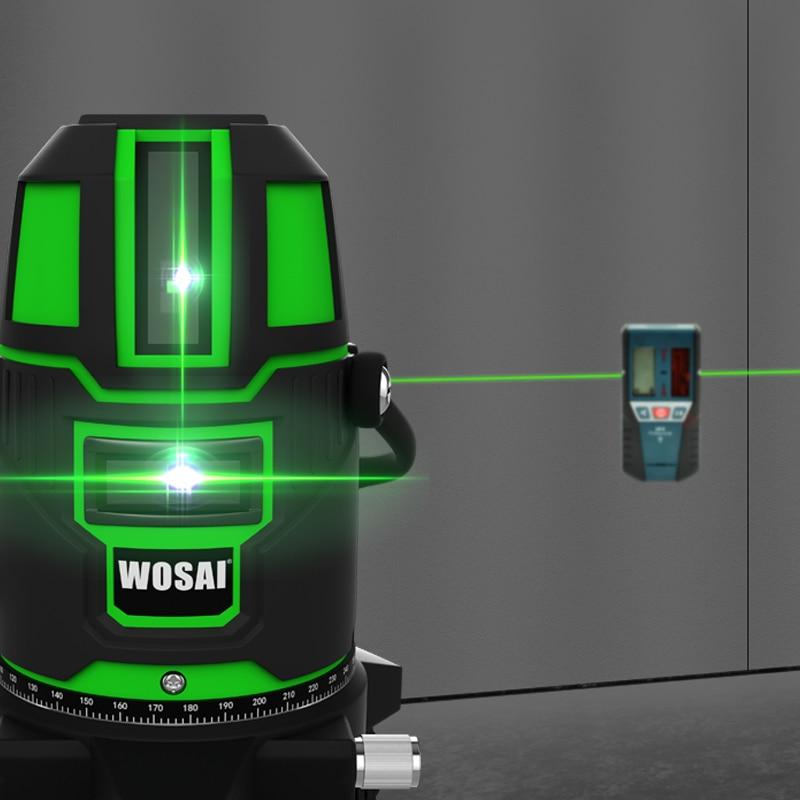 WOSAI Green Laser Level 5 linii 6 punktów Laser Level Automatyczne - Przyrządy pomiarowe - Zdjęcie 5