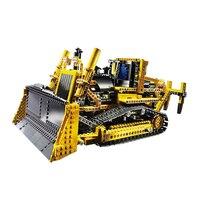 Лепин 20008 техника серии 1384 шт. дистанционный пульт бульдозер модель Сборка строительный блок Кирпичи DIY игрушка для детей 8275