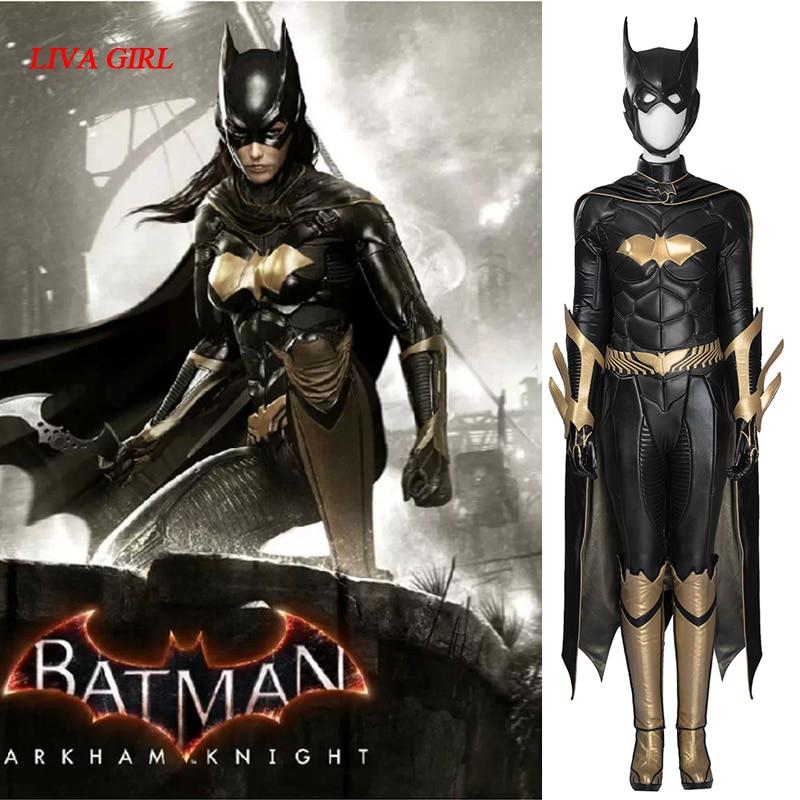 Batman: Arkham Knight Batgirl Cosplay Costume Adult Halloween costumes for women Batman Batgirl jumpsuit fancy Superhero outfit