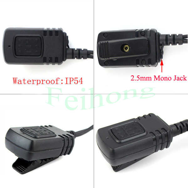Waterproof IP54 PTT Covert Acoustic Tube In-ear Earpiece for Motorola Radio XPR3300 XPR3500 XIR P6620 Walkie Talkie