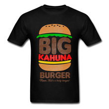 Büyük Kahuna Burger T-shirt Mens Tops Tees komik yaz T Shirt adam pamuk giyim Slim Fit Tshirt Vintage grafik(China)