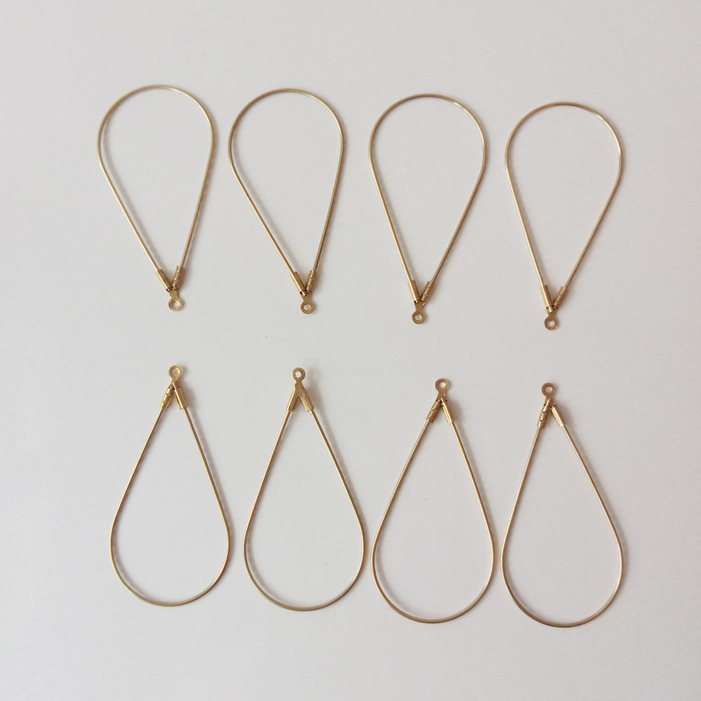 100pcs Fashion Jewelry Water drop copper fitting hooks for Necklace/Earring/Bracelet Findings Components diy Jewelry Accessories