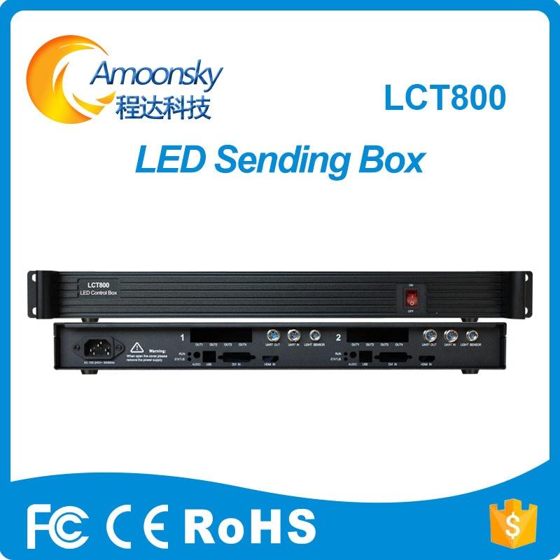 Amoonsky LCT800 LED sending card box support install 2pcs Nova msd600 led display sending card