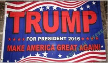 3×5 FT  Donald Trump President 2016 Flag  Banner 100D Polyester Custom flag grommets .free shipping