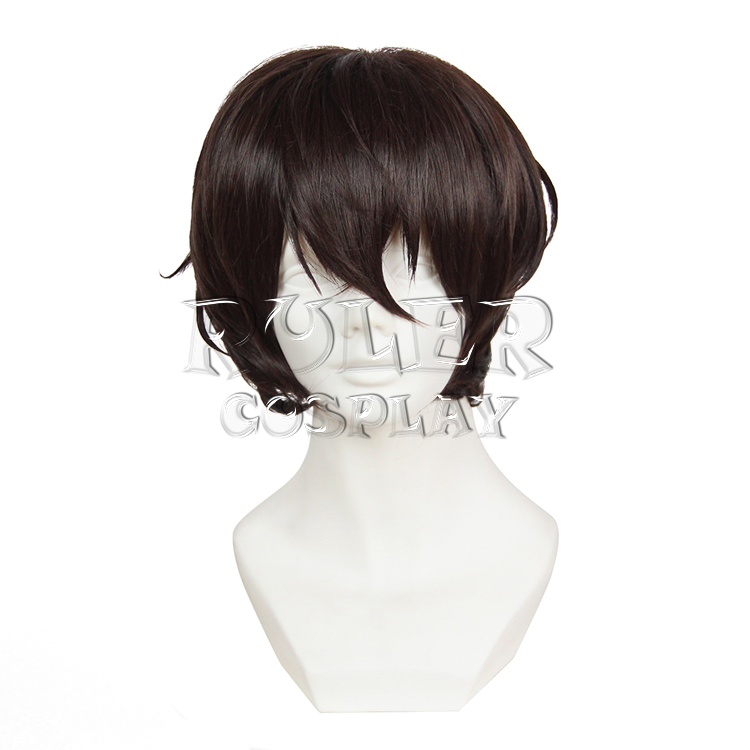 Anime Bungo Bungou Stray Dogs Dazai Osamu Short Dark Brown Cosplay Wig Costume Heat Resistant + Cap +Track Number hsp 94180 1 10th scale rc car 4wd electric powered off road rc crawler 2 4g climbing truck car p3