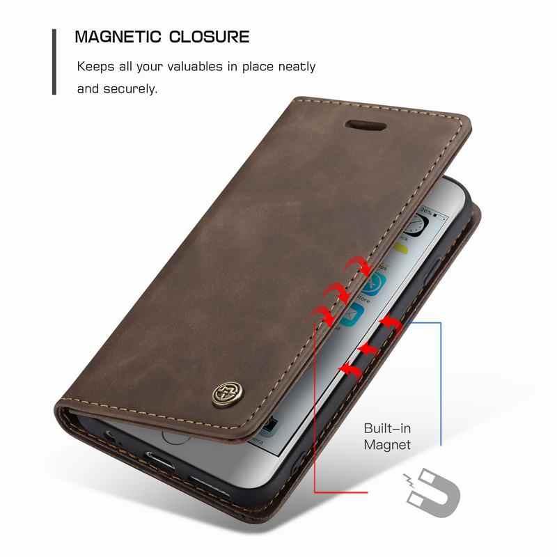 Étui pour iPhone 6 s 6 s 7 8 Plus étui de protection iPhone XS Max XR Coque portefeuille en cuir pour iPhone 5s 5 SE X 10 Coque de téléphone de Luxe