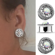 Brand New 8mm-20mm Stainless Steel Crystal Ear Plugs Piercing Tunnel Body Jewelry Flesh Gagues For Women