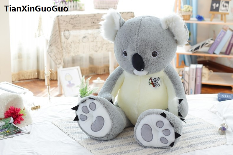 new arrival large 90cm cute gray koala plush toy soft doll throw pillow birthday gift s0155 large 75cm gray shark plush toy soft throw pillow birthday gift xmas gift d2398