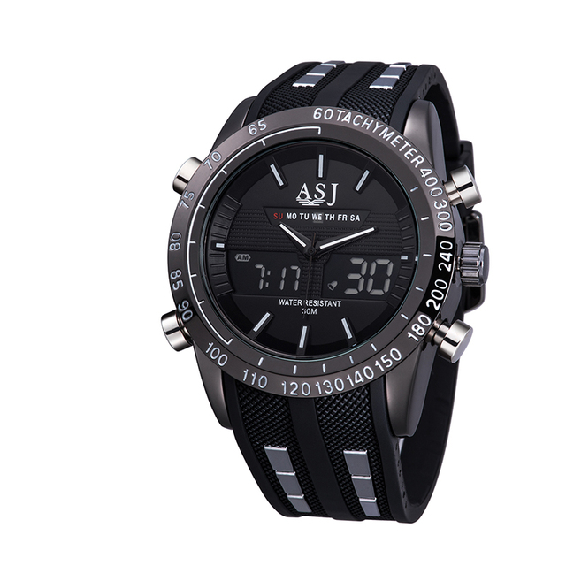 Sport Watch Men's Wristwatch Waterproof Electronic Watches Fashion casual Display Analog Top Brand classic multi-color