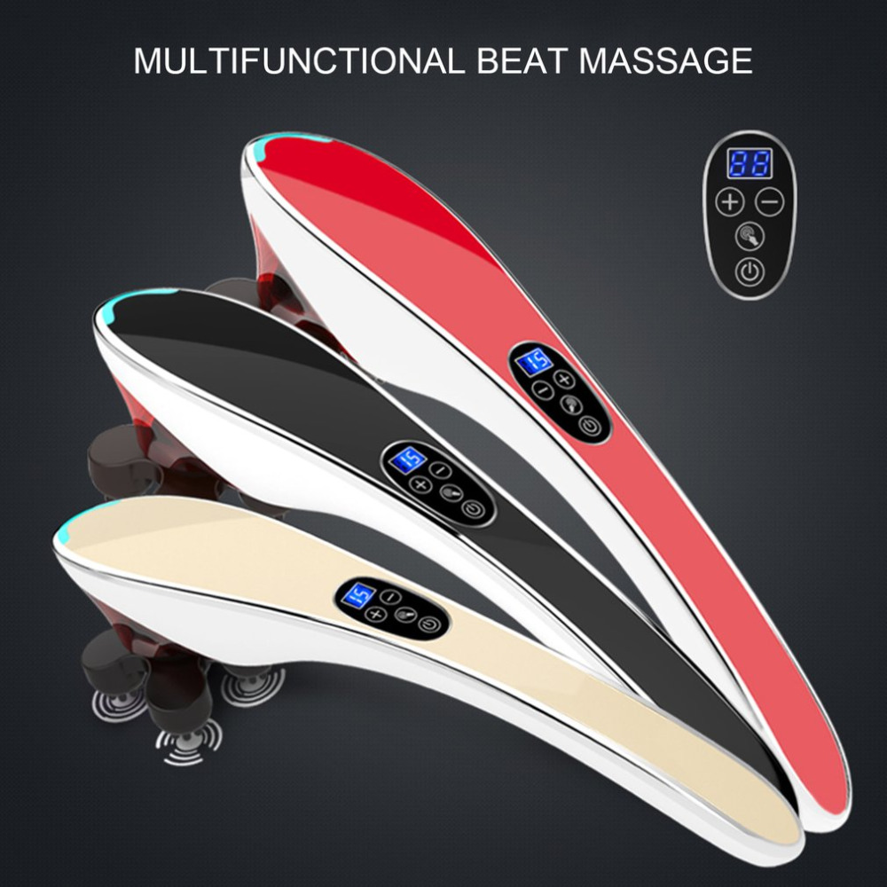Electric Neck Massager Infrared Massage Body Relaxation Multifunctional Cervical Vertebra Massager Massage Full Body Relaxation rechargeable multifunctional meridian massage the whole body of household authentic cervical vertebra acupuncture pulse fields p