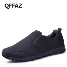QFFAZ New High Quality Spring/Autumn Men Slip On Shoes Breathable Mens Shoes Casual Fashion Shoes Zapatillas Hombre Big Size 45