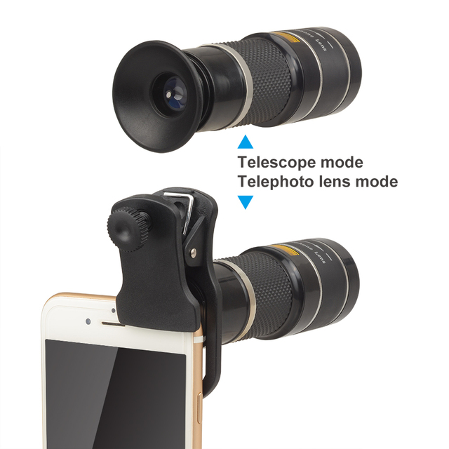APEXEL Optical Telescope lens 20x telephoto monocular lentes with selfie tripod monopod for iPhone Samsung Smartphones Hunting 1