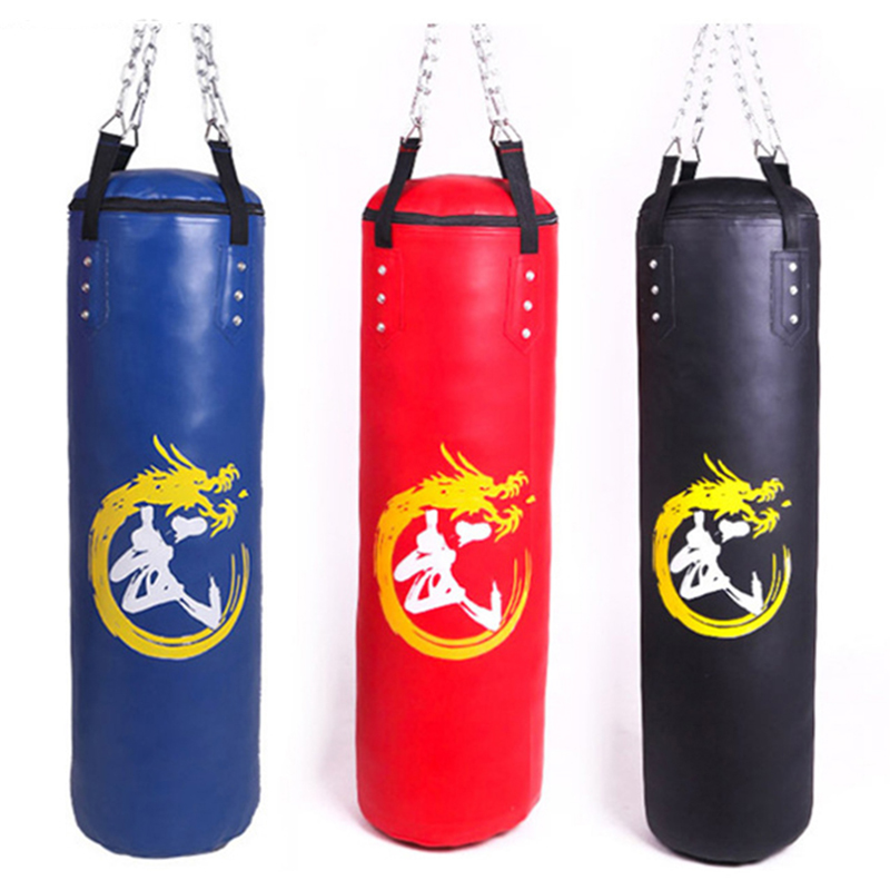 3 Colors Empty Kick Boxing Bag 60/80/120cm Training Fitness Punching Bag Saco De Pancada Boxeo Hook Hanging MMA Fight PU Sandbag(China)