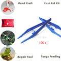 100 Pçs/set Pinças De Plástico Ferramenta Para Kit de Primeiros Socorros, Kit De Emergência, As Crianças DIY Artesanato, Reparação E Manutenção pinças de Alimentação