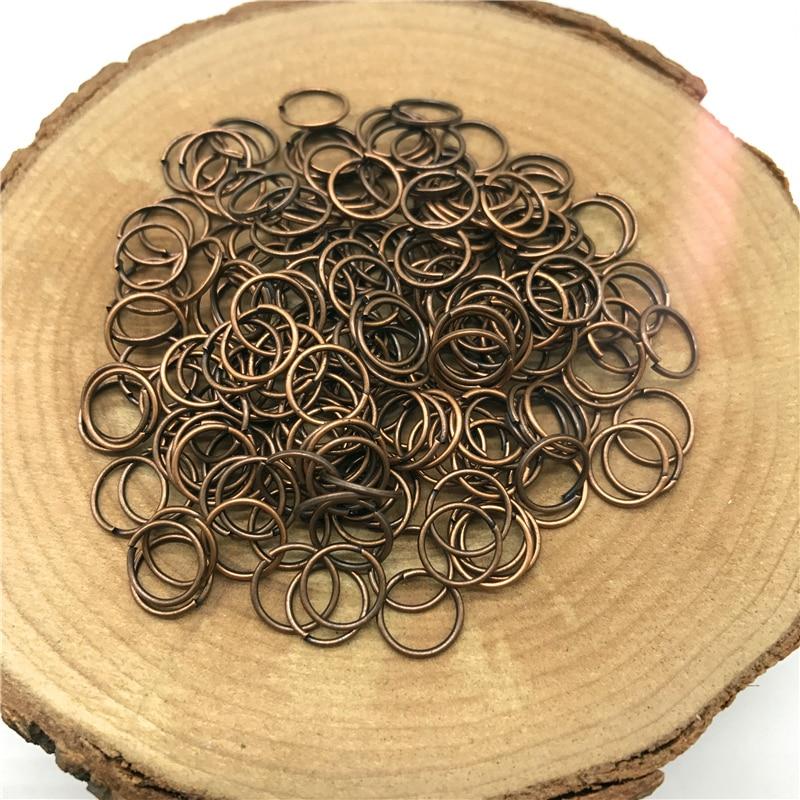 4/6/8/10 мм 500/300/200/100 шт Металлические разомкнутые кольца для прыжков Разделение кольца Разъемы для самостоятельного изготовления ювелирных изделий - Цвет: Red copper