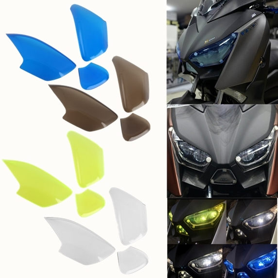Acrylic Front Headlight lens protection screen lens Cover for 2017-2018 Yamaha Xmax 300 X-max 250 XMAX300 XMAX250