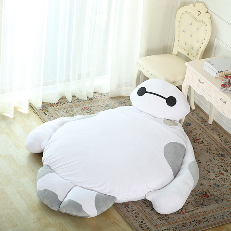 2016 190x170cm Large Soft Toys Kids Hero 6 Baymax Plush Doll Cartoon Anime Tatami Bed Mattress For Child Gift Kawaii