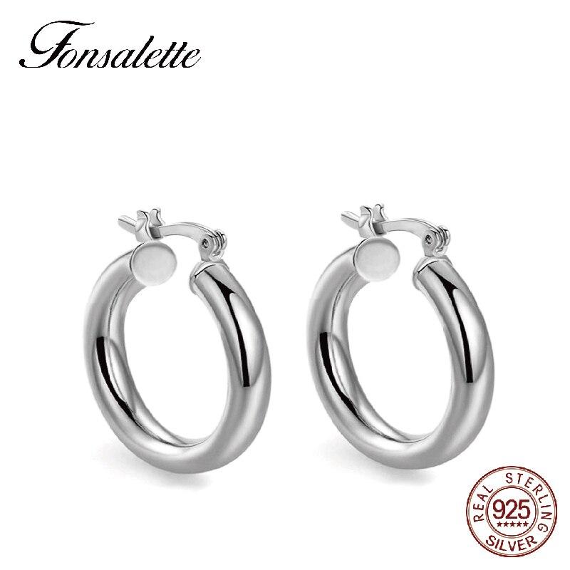 Fashion 18K gold Hoop Earrings Women Jewelry 925 Sterling Silver Ear Jewelry Round Circle Loop earrings brincos wholesale Zk30