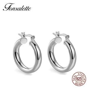 Fashion 18K gold Hoop Earrings