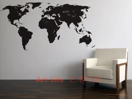 Large New Design Art Pattern Creative World Map Wall Sticker World Map Wall  Decals Poster Stickers Part 50