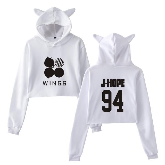 BTS WINGS EAR HOODIE (35 VARIAN)