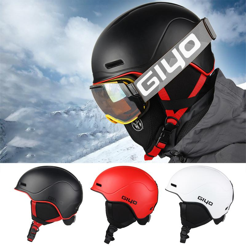 Professional Unisex Adult Outdoor Ski Helmet Warm Breathable Bicycle Helmet With Goggles Ultralight Hiking Cycling Helmets цена