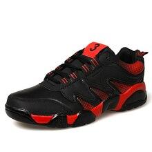 Venta caliente zapatos de deporte para hombre zapatillas de deporte corrientes de cuero athletic calzado marcas rojo/de oro/negro hombres trail running shoes gimnasio calzado