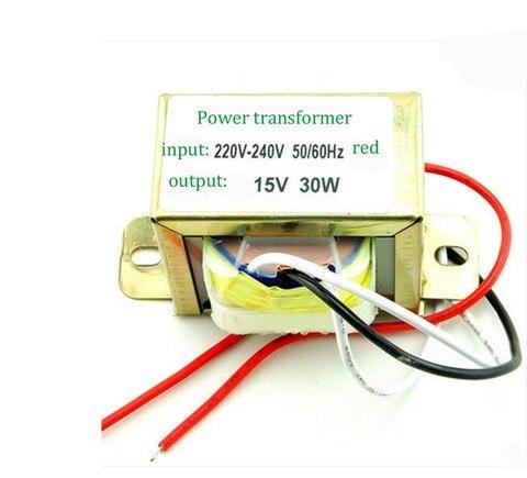 30 w duplo 15 v transformador da fonte de alimentacao entrada 220 v 50 hz