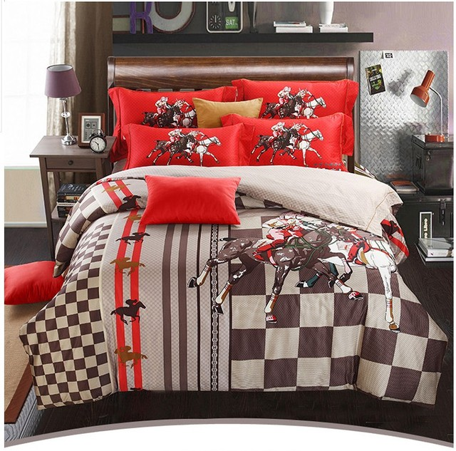 Horse Bedding Sets Duvet Covers King Queen Size Bed In A Bag Sheet Spread 100