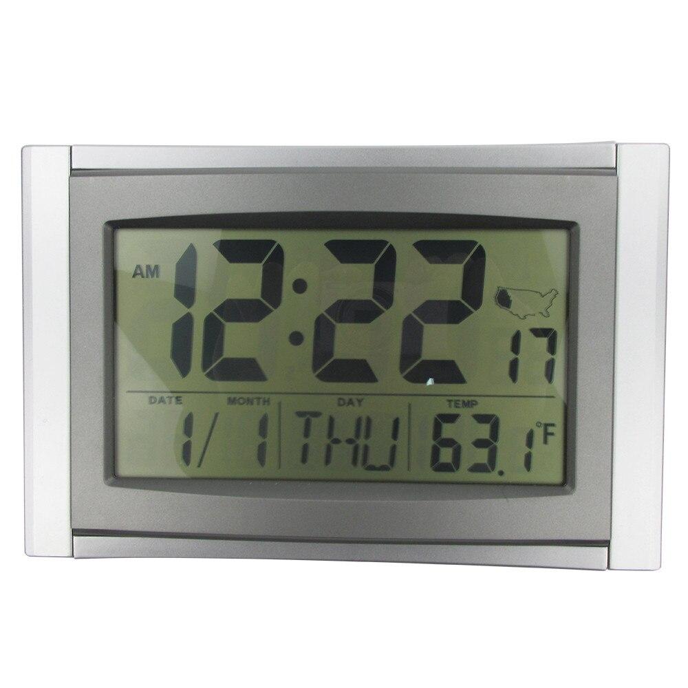 atomic alarm digital clock 5 in 1 lcd radio la crosse technology wall clock snooze