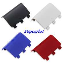 цена на Battery Cover Lid Shell Replacement ABS Battery Cover Door Back Covers for XBOX One Wireless Controller Xboxone Gamepad 50pcs