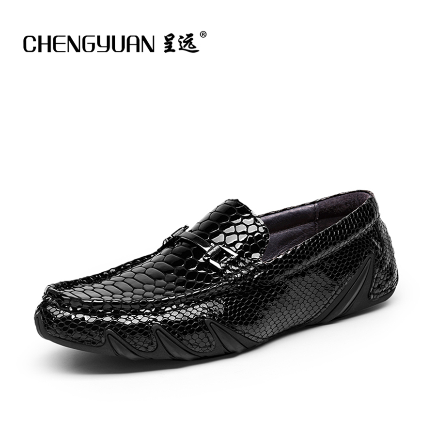 Mens Leather flats Loafers 2017 summer for men driving shoes black blue moccasins Leather peas man Shoes C61090 CHENGYUAN the black eyed peas the black eyed peas the beginning 2 lp