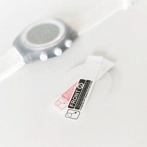 Image 5 - נגד הלם TPU מגן סרט עבור שעון מסך מגן להגן על סרטי עבור Alfajr Harameen אזאן זמן WY 16 WA 10 100 חתיכות