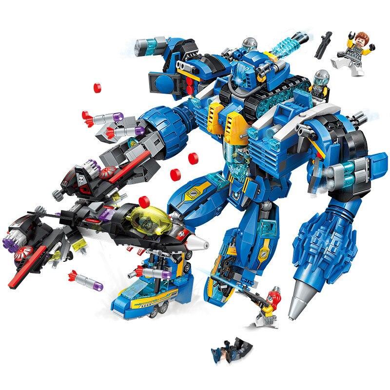 1351pcs Children s educational building blocks toy Compatible city technic Ironclad Poseidon technology era boy gifts