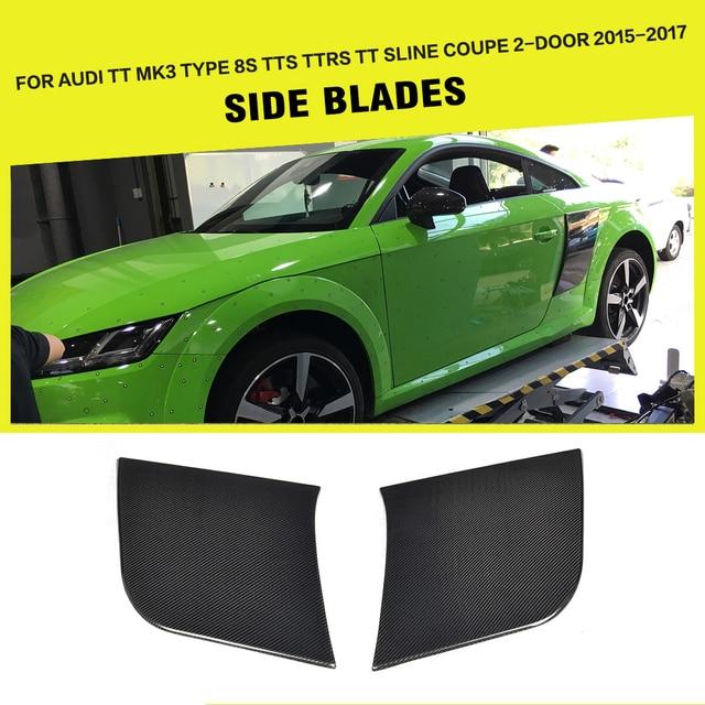 2PCS Rear Side Door Fender Guard Boards for Audi TT TTS TTRS 2015 2016 2017 Base Coupe Convertible Carbon Fiber / FRP