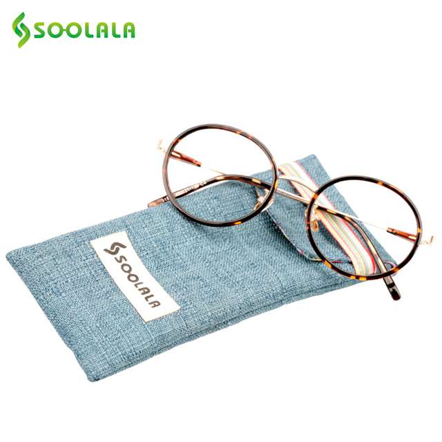 SOOLALA Round Circle Readers Reading Glasses Women Men Clear Lens Presbyopia Glasses +0.5 1.0 1.25 1.5 1.75 2.0 2.25 to 4.0