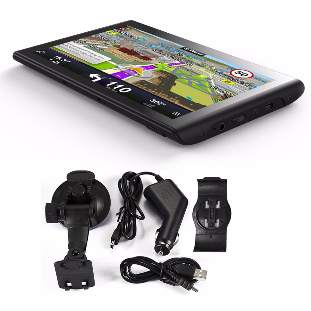 High Quality Portable 7 Inch HD Car GPS Navigation Capacitive Touch Screen FM 8GB Vehicle Truck