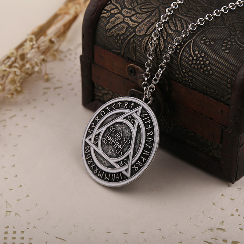 """Constantine"" Rune Pendant Necklace Movie Jewelry for Men and Women Free shipping retail and wholesale"