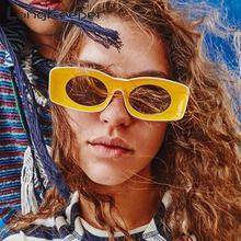 LongKeeper Cool Women Sunglasses Brand Designer 2019 Unisex Hip Hop Sun Glasses Concave Frame Unusual Rectangle Men