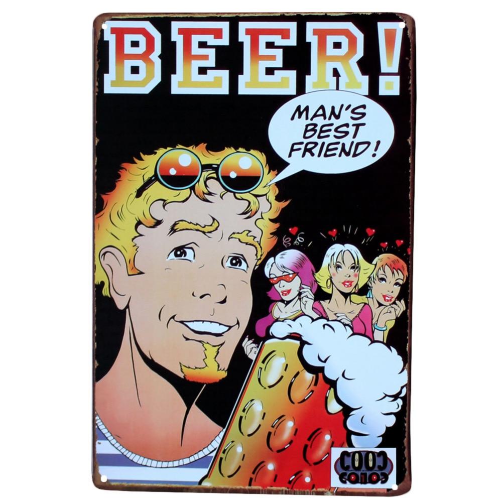 30*20 cm Vintage Metall Blechschild Trinken Gut Bier Retro Plaque ...