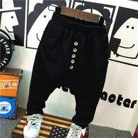 Fashion Korean Sports Pants 2017 Autumn Winter Boy Girls Cotton Velvet Warm Harem Pants Trousers Baby