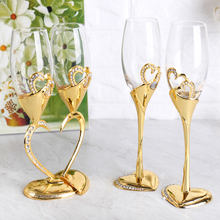 Crystal with Diamond Wine Glass Champagne Luxury Wedding Party Reception Toasting Rhinestone Design Drinking